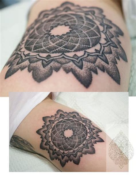 blackwork tattoo with sacred geometry and geometric off the map tattoo tattoos page 5