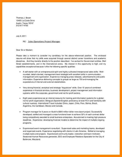 Cover Letter Exles Manager by Operations Manager Cover Letter Sles