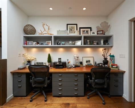 2 Person Desk Ideas 30 Home Office Para Inspirar Seu Escrit 243 Em Casa Apartamento Decorado Pequeno