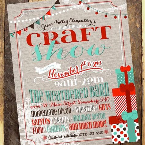 holiday craft shows in illinois and teal craft show flyer craft boutique flyer craft fair invitation