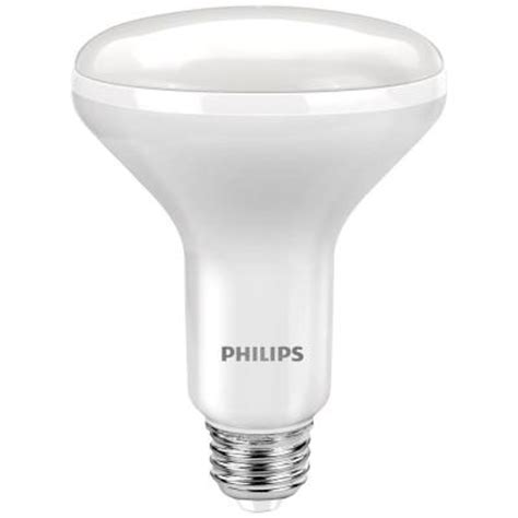 led light bulb pack philips 65w equivalent soft white br30 dimmable flood led