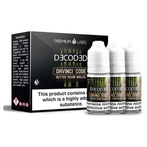 Jam Davinci Code davinci code by decoded available now on vapour subscription