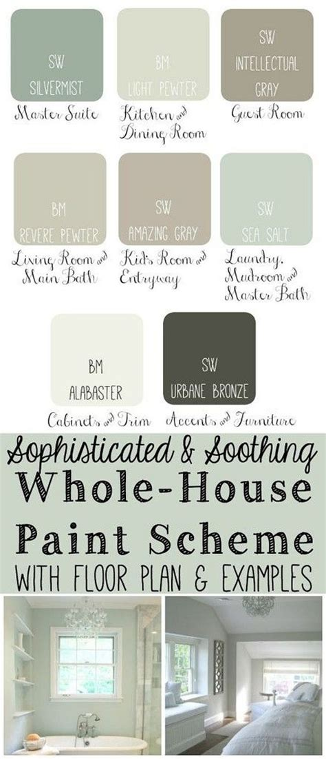 whole house color schemes whole house paint scheme s master bedroom sw silvermist