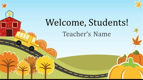 Free Elementary School Teacher Template For Powerpoint Online Free Powerpoint Templates Powerpoint Templates For Teachers Free