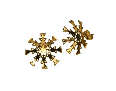 snowflake stud earrings farah qureshi