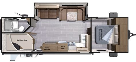 5th wheel floor plans fifth wheels inc also 2 bedroom 5th wheel floor