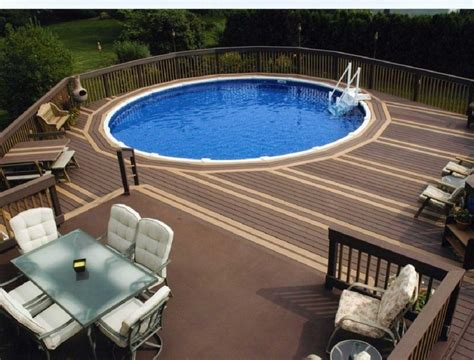 Decks Around Above Ground Swimming Pools Backyard Design Backyard Swimming Pools Above Ground
