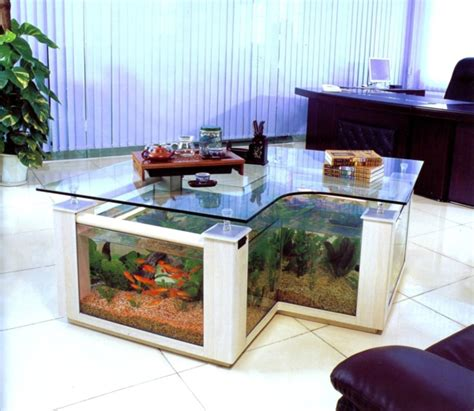 Livingroom Deco la d 233 coration avec un meuble aquarium archzine fr
