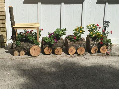 log train planter clay s projects pinterest planters