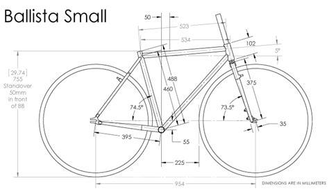 bicycle frame design dimensions ballista bike polo frameset fbm bike co