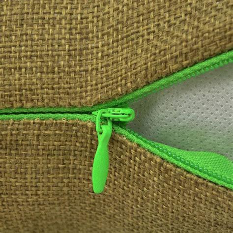 cuscino 80x80 vidaxl set 4 federe per cuscini in simil lino verde 80x80