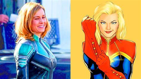 Costume Marvel Captain F766 captain marvel costume revealed it s green