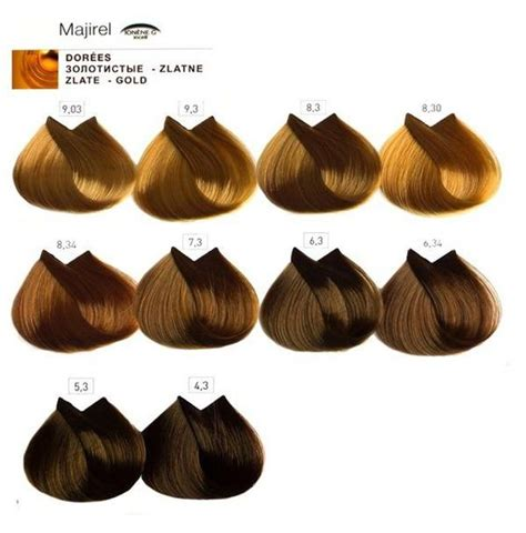 majirel hair color majirel l oreal professionnel6 dorati hair color charts