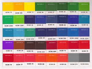 gcmi colors color chart white