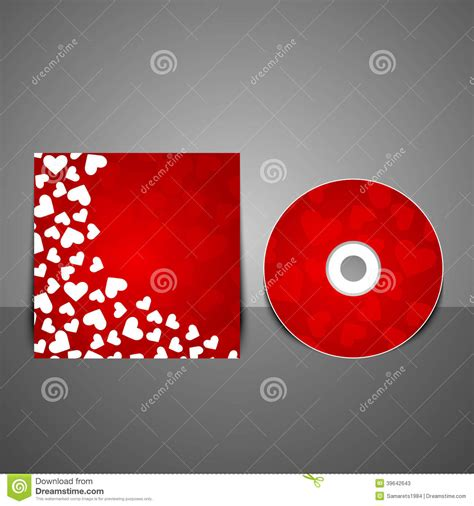 layout cd vector vector cd cover design template stock vector image