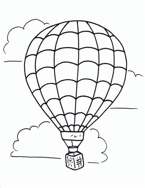 air balloon coloring page vintage air balloon coloring page coloring home