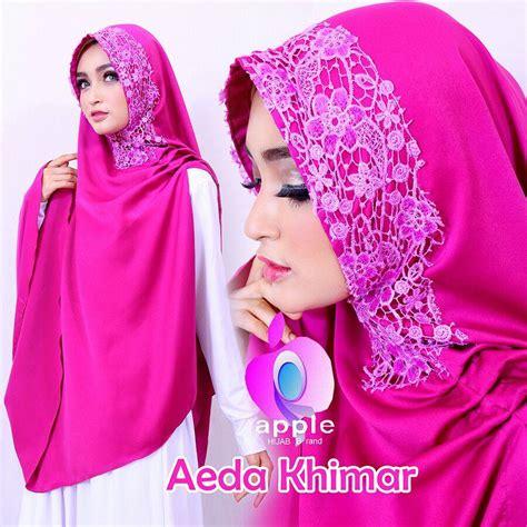 by apple hijab jilbab cantik mewah toko jilbab online branded jual jual aeda khimar by apple hijab khimar syari cantik