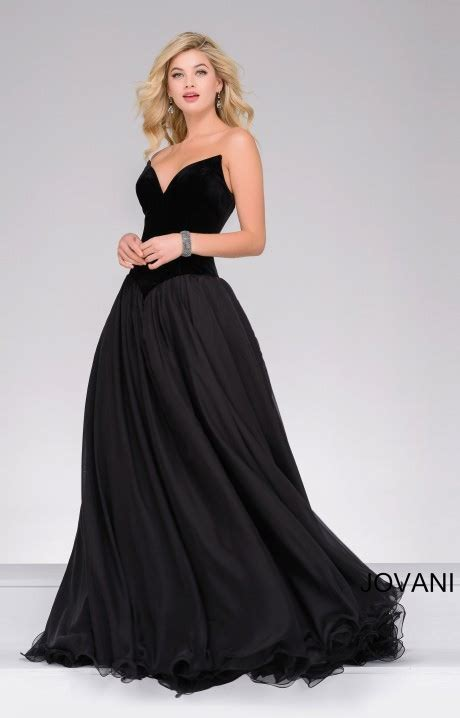 Simple Black Evening Dress