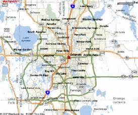 orlando florida on map