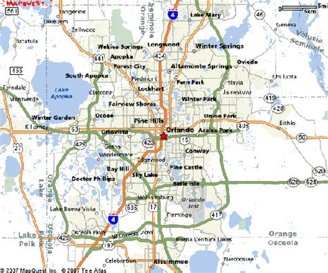 map of orlando fl image gallery orlando fl map