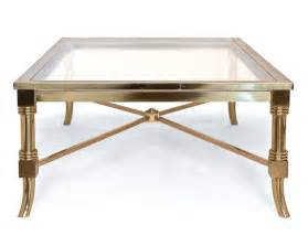 Coffee Table. exciting brass coffee table: brass coffee table made of glass and brass on the top
