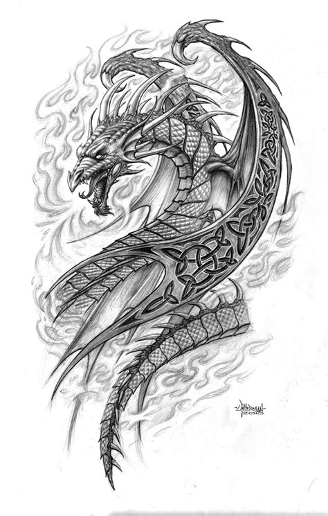 tattoo dragon celtic celtic dragon by loren86 on deviantart