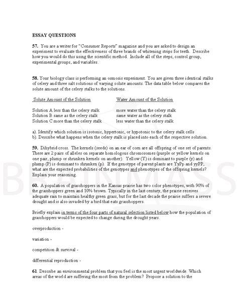 experimental design questions scientific method questions