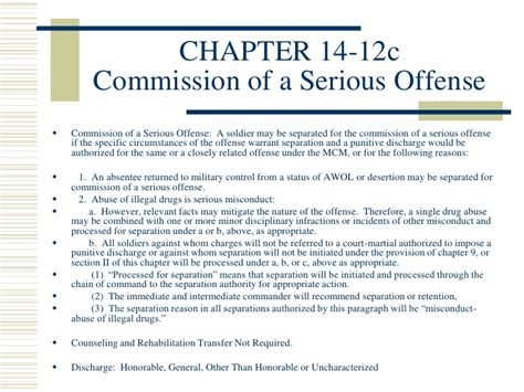 pattern of misconduct discharge army class3 admin separations