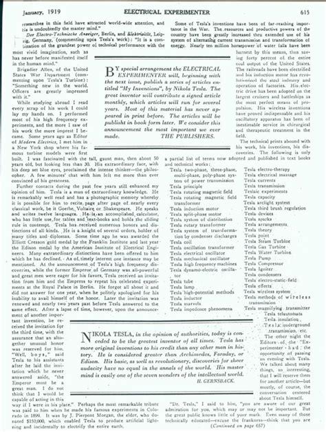 Nikola Tesla Notes Nikola Tesla New World Encyclopedia