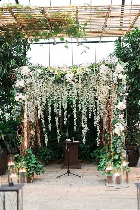 Wedding Arch With Hanging Flowers 33 boho wedding arches altars and backdrops to rock