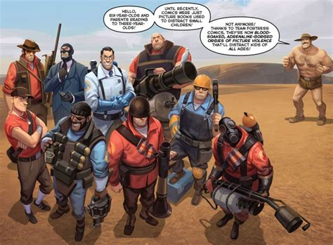 team fortress  catch  comic released  part