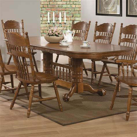 coaster dining room table coaster brooks 104271 oak finish oval dining table with