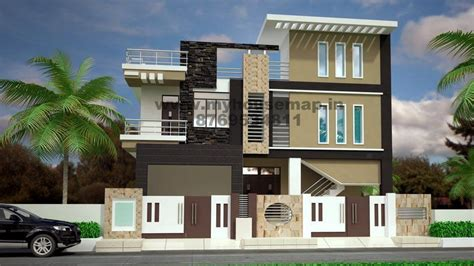 modern elevation design of residential buildings house