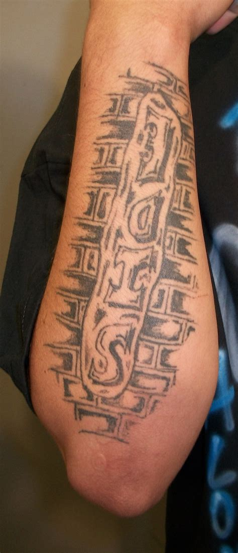 brick tattoo roberto avina casillas of word side brick wall