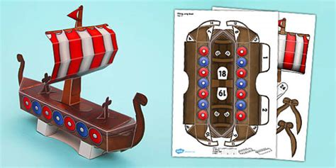 how to make a paper police boat viking long boat paper model viking long boat craft paper