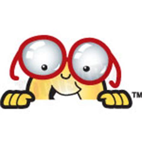 Care Bear Wall Stickers eye glass mascot peeking over clip art