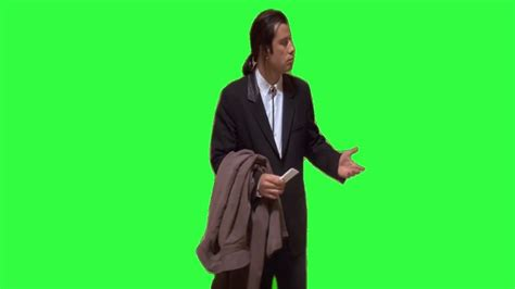 confused john travolta meme green screen download link