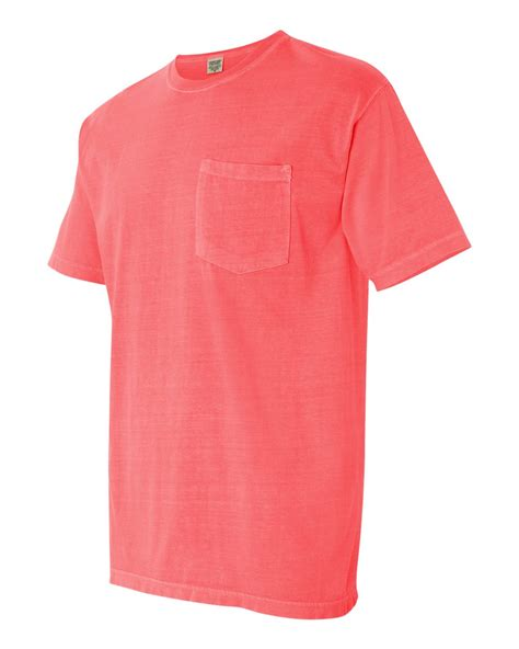 comfort color pocket t shirts comfort colors men s pigment dyed short sleeve t shirt