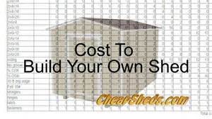 Estimate On Building A House by Cost To Build Your Own Shed Youtube
