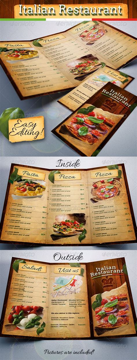 tri fold restaurant menu templates free 17 best images about menu design on restaurant