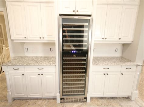 Wine Cooler For Kitchen Cabinets by Kitchen Built In Wine Fridge Toronto Custom Concepts