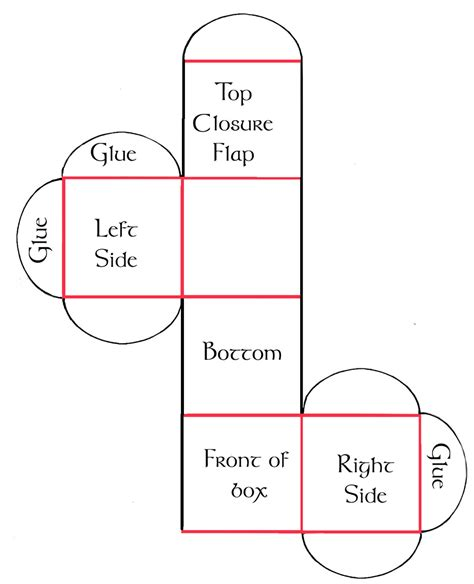 How To Make A Box Made Out Of Paper - cube box template printable