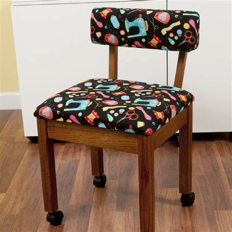 Oak Sewing Chair Arrow Sewing Cabinets