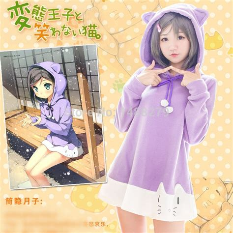 Tsukiko Ouji To Warawanai Neko Anime Tshirt Kaos Baju achetez en gros neko en ligne 224 des grossistes