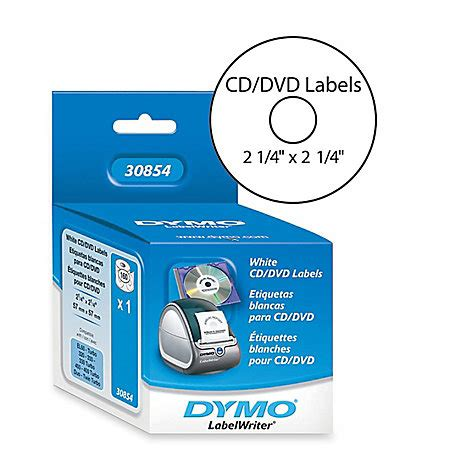 Dymo Thermal Cddvd Labels White Pack Of 160 By Office Depot Officemax Dymo Label Templates
