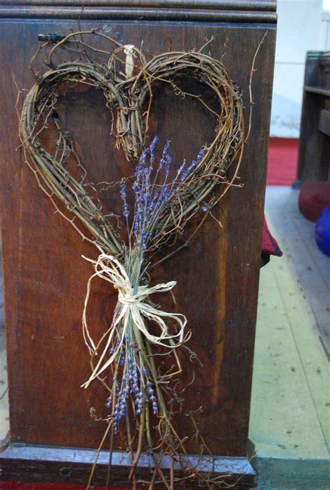 rustic heart pew ends / aisle decor   Wedding Ideas