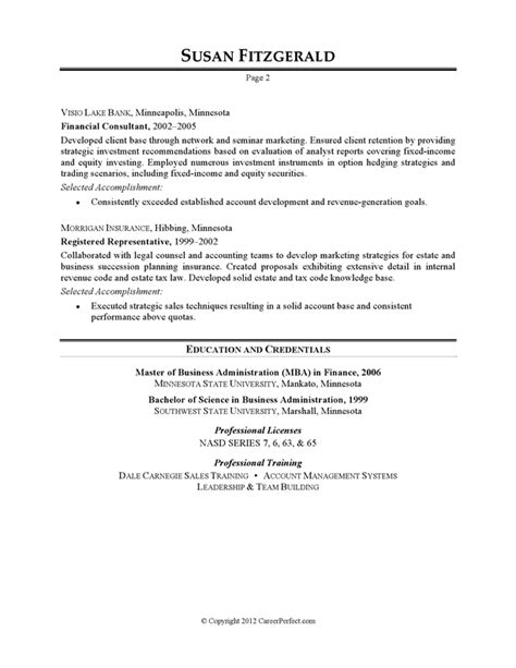 Banker Resume Sample – Investment: Investment Banking Template Resume