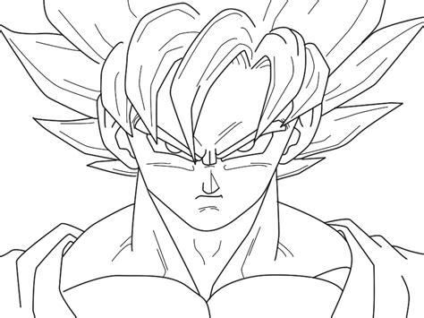 imagenes de goku a color para dibujar dibujo de goku super saiyan 4 imagui