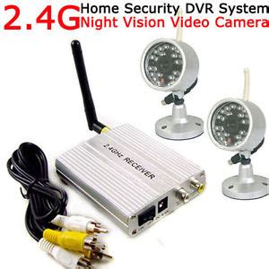 2 4g 4ch wireless diy home security system 2pcs ir