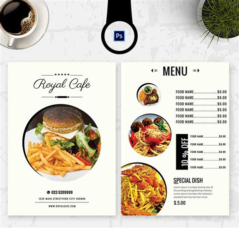 free food menu templates 6 free menu templates cafe restaurant free